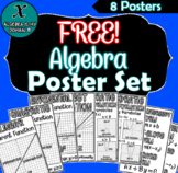 FREE - Algebra Poster Set - Word Wall