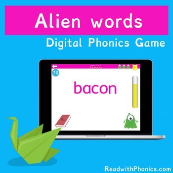 FREE! Alien Words Game. Online Phonics Games   Phonics Screening Check Practice!