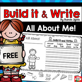 FREE: All About Me! Build it & Write
