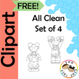 FREE All Clean Clipart - Black Outline Only