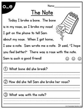 Silent E Free Silent E Reading Passages All In One By A Teachable Teacher Worksheets are third grade teacher reading academy, the sun and the stars, grade 3 reading comprehension work, grade 3 reading practice test, fsa ela reading practice test questions, grade 3 reading, the closet creature, oqbwqs 0y. silent e free silent e reading passages all in one