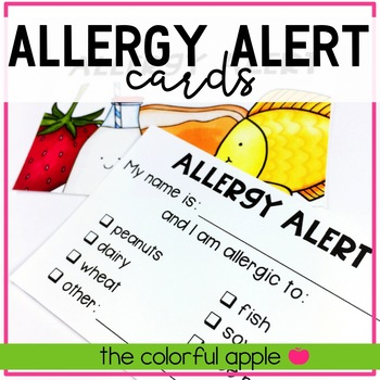 FREE Allergy Alert Cards