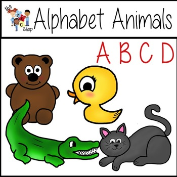 FREE! Alphabet Animals: A B C D