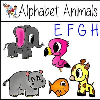 FREE! Alphabet Animals: E-F-G-H