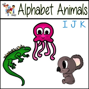 FREE! Alphabet Animals: I-J-K