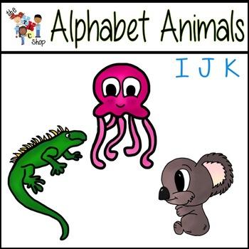 FREE! Alphabet Animals: I-J-K