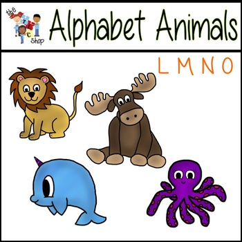 FREE! Alphabet Animals: L-M-N-O