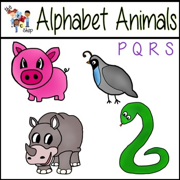FREE! Alphabet Animals: P-Q-R-S