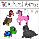 FREE! Alphabet Animals: T-U-V-W