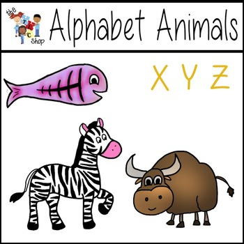 FREE! Alphabet Animals: X-Y-Z