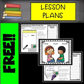 FREE Alphabet Books and the Children Who Read Them Lesson Plans