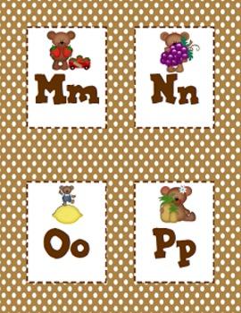 FREE Alphabet Cards - Teddy Bears