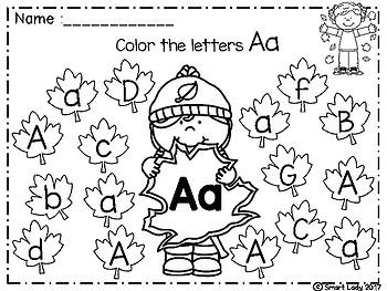 FREE Alphabet Color Fun Activities (FALL EDITION)