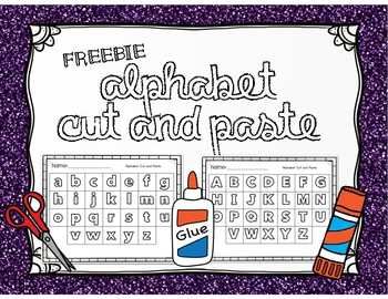 FREE- Alphabet Cut & Paste Worksheet