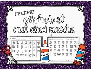 FREE- Alphabet Cut & Paste Worksheet