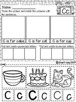 FREE Alphabet Cut and Paste Set 2