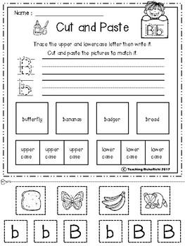 FREE Alphabet Cut and Paste Set 3