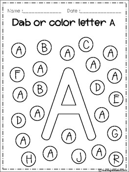 FREE Alphabet Dab AZ by Teaching