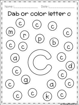 free alphabet dab a z lower case by teaching richarichi tpt. Black Bedroom Furniture Sets. Home Design Ideas