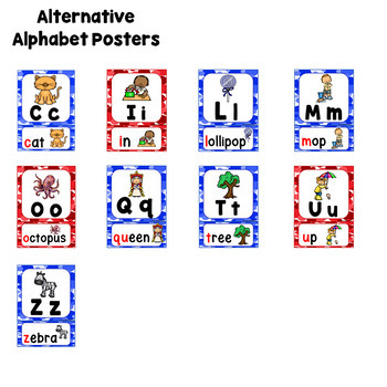 FREE! Alphabet Display Posters, based on Jolly Phonics