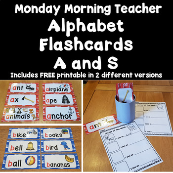 FREE! Alphabet Flashcards/Pictures for Centers and Stations: Letters A and S