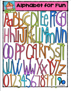 FREE Alphabet For Fun {P4 Clips Trioriginals Digital Clip Art}