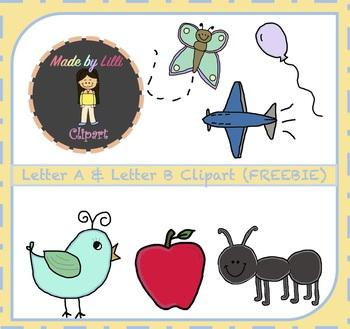 FREE Alphabet Letter A & Letter B Clipart {Alphabet Clipart}