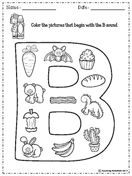 FREE Alphabet Letter Of The Week (B)