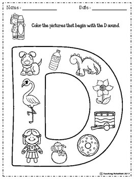 FREE Alphabet Letter Of The Week (D)