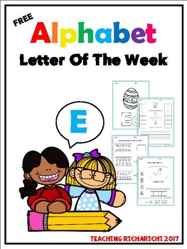 FREE Alphabet Letter Of The Week (E)