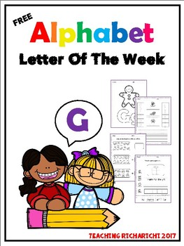 FREE Alphabet Letter Of The Week (G)