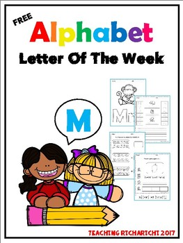 FREE Alphabet Letter Of The Week (M)