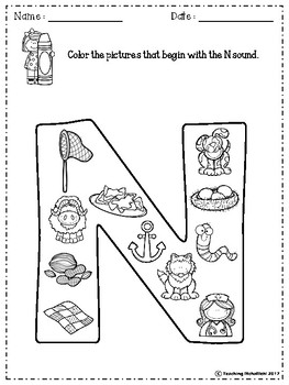 FREE Alphabet Letter Of The Week (N)