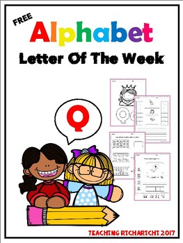 FREE Alphabet Letter Of The Week (Q) Coronavirus Packet Distance Learning
