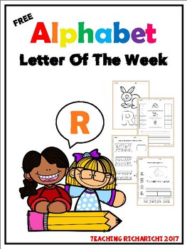 FREE Alphabet Letter Of The Week (R)