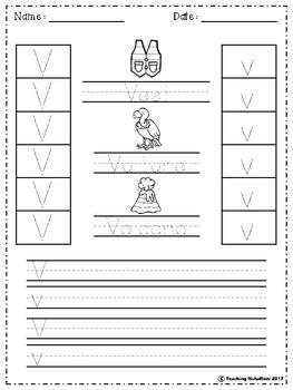 FREE Alphabet Letter Of The Week (V)