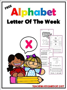 FREE Alphabet Letter Of The Week (X)