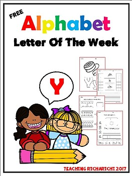 FREE Alphabet Letter Of The Week (Y)