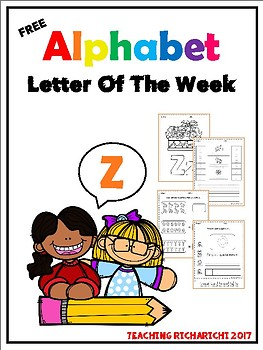 FREE Alphabet Letter Of The Week (Z)