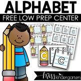 FREE Alphabet Low Prep Center | Letter Match Activity