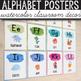 FREE Alphabet Posters - Watercolor Classroom Decor
