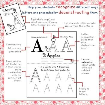FREE Alphabet Recognition and ABC Deconstruction plus Exte