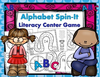 FREE Alphabet Spin-It Game Literacy Center (Capital & Lowercase Discrimination)