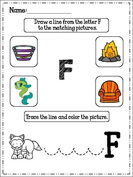 FREE Alphabet Trace And Color Set 5