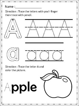 FREE Alphabet Trace & Color Set 3