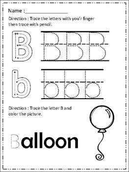 FREE Alphabet Trace & Color Set 3