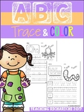 Alphabet Trace and Color Coronavirus Packet Distance Learning