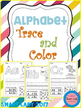 FREE Alphabet Trace and Color