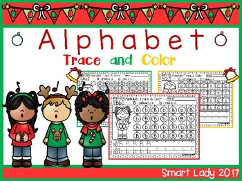 FREE Alphabet Trace and Color (Christmas Edition)