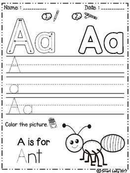 FREE Alphabet Trace and Color (Set 2)